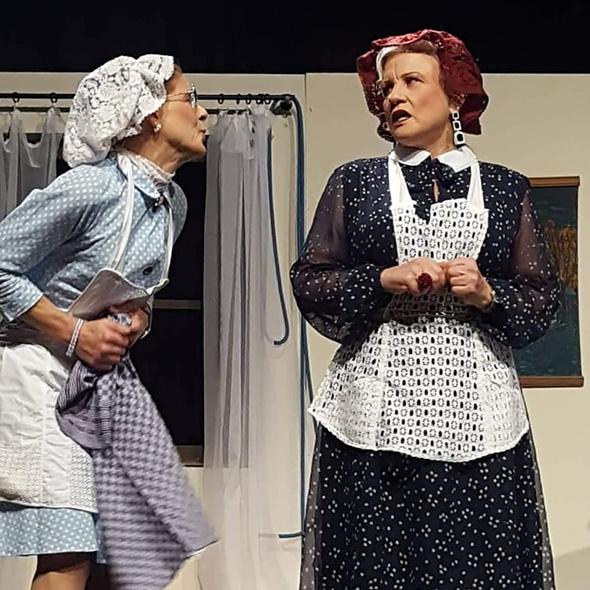 Szene aus englischem Theaterstück