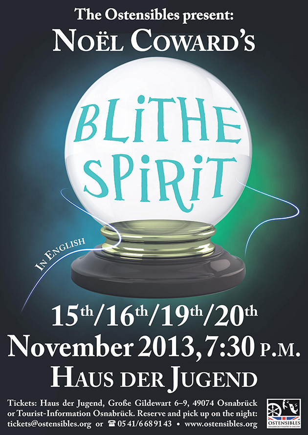 Ostensibles Theaterplakat »Blithe Spirit« (Noel Coward), Osnabrück's Theatre in English