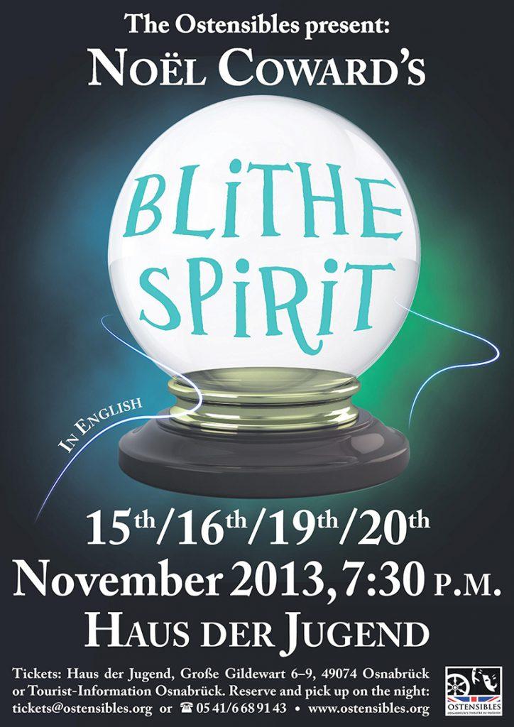 """Poster der Ostensibles Aufführung """"Blithe Spirit"""""""