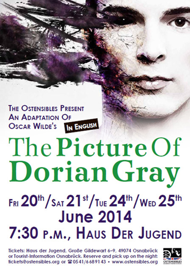 Ostensibles Theaterplakat »The Picture Of Dorian Gray« (Oscar Wilde), Osnabrück's Theatre in English