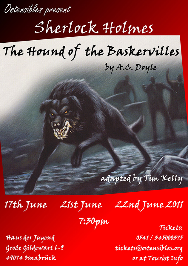 Ostensibles Theaterplakat »The Hound Of Baskerville« (A. C. Doyle), Osnabrück's Theatre in English